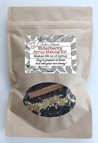 Elderberry Syrup Making Kit - Family Size - Makes 36 oz - Just add your own honey - Easy to make at home - Natural & Organic Ingredients