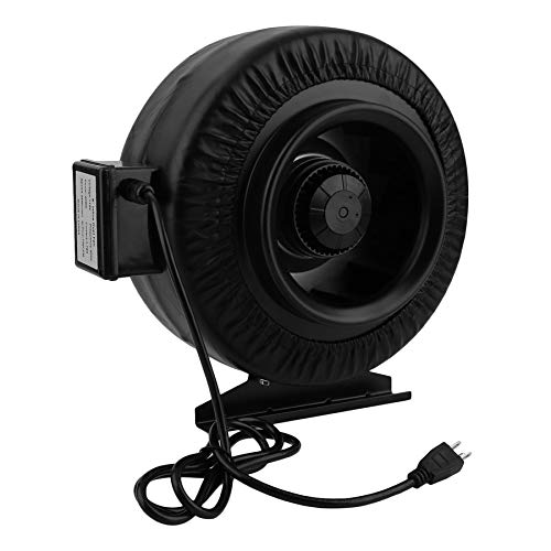 770CFM Booster Exhausting Fan Circular Duct Ventilation Fan for Grow Room ()