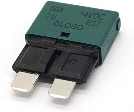 4 Pieces Fuse Circuit Breaker Manual Reset Mini Blade Car Truck 28V 10A+7.5A