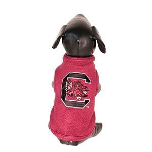 All Star Dogs NCAA South Carolina Fighting Gamecocks Polar Fleece Dog Sweatshirt, Tiny