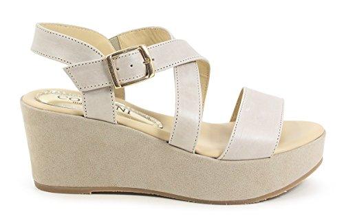Sandalo Con Cinturino In Pelle Scamosciata Beige Daron