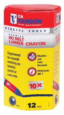 "Ch Hanson 10383 No Melt Lumber Crayon, 1/2"" X 4.5"""