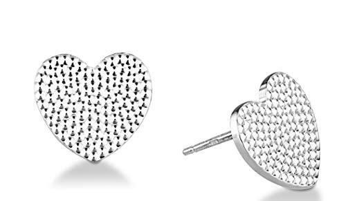 Miabella 925 Sterling Silver Italian Beaded Sparkle Dainty Stud Earrings for Women Teen Girls Made in Italy (Sterling-Silver)