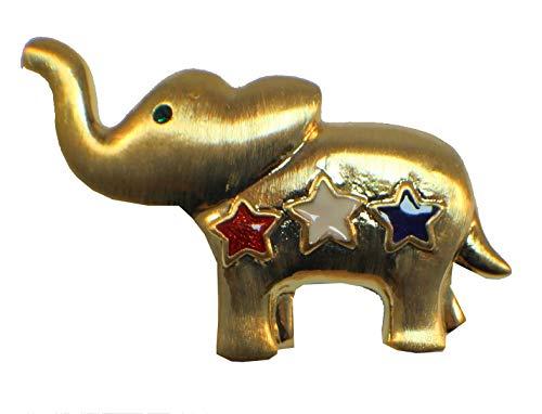 Pin Elephant Republican (ShopForAllYou Clothes brooches Elephant Republican Patriotic Flag Red White & Blue Rhinestone Pin Brooch Broach)