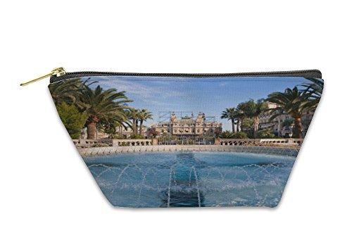 Gear New Accessory Zipper Pouch, Fountain Of Monte Carlo Monaco, Small, (Monaco Fountain)