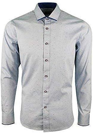 Memphis - Camisa Casual - para Hombre Azul Celeste L: Amazon ...