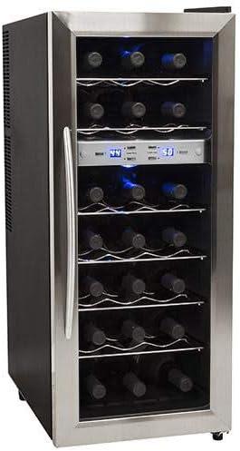 EdgeStar-TWR215ESS-21-Bottle-Freestanding-Dual-Zone-Stainless-Steel-Wine-Cooler