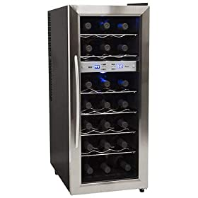 EdgeStar 21 Bottle Freestanding Dual Zone Wine Cooler