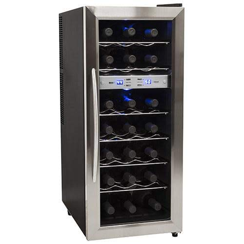 Bottle Zone Dual Cooler Wine - EdgeStar TWR215ESS 21 Bottle Freestanding Dual Zone Stainless Steel Wine Cooler