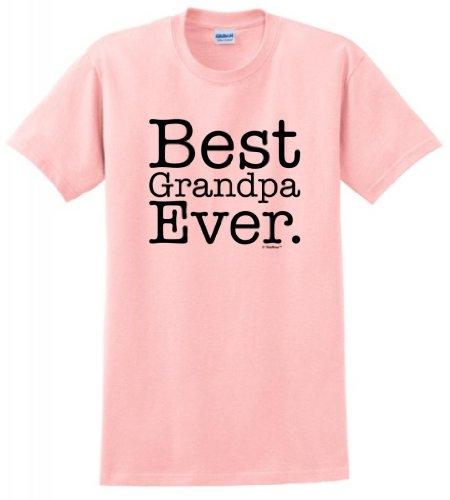 Best Grandpa Ever T-Shirt XL Lt. Pink