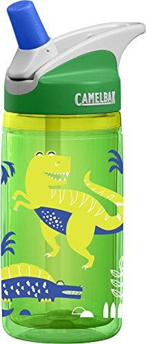 CamelBak Eddy Kids Insulated Water Bottle, Green Dino, .4 L