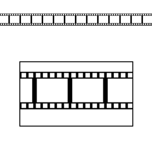Filmstrip Border Trim Party Accessory (1 count) (12/Pkg) -