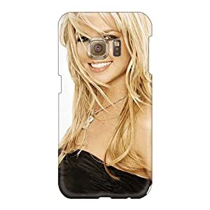 Anti-Scratch Cell-phone Hard Covers For Samsung Galaxy S6 With Provide Private Custom Fashion Britney Spears Smiling Pictures ErleneRobinson