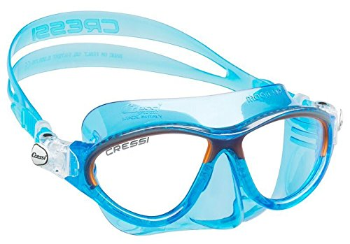 Cressi MOON, Kids Mask Ages 7 to 15 for Swimming and Diving - Made in Italy (Blue Orange) by
