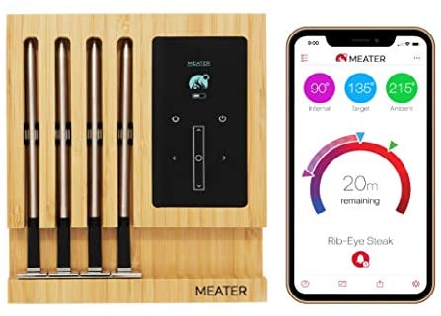 MEATER Block   Premium Kabelloses Smart-Fleischthermometer für Ofen Grill Küche BBQ Smoker Rotisserie mit Bluetooth und WiFi Digitalverbindung