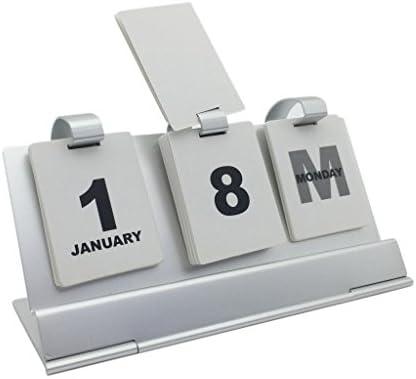 MagiDeal Escritorio Calendario perpetuo de Aluminio Manual ...