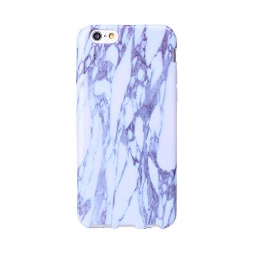 iPhone 5 / 5S / SE Cover ZXLZKQ Trasparente Sottile Bianco Blue Naturale Marmo Stripe Silicone Morbido TPU Bumper Case Custodia per Apple iPhone 5 / 5S / SE (Non disponibile per iPhone 5C)