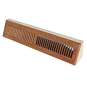 WELLAND 24 Inch Brazilian Cherry Hardwood Vent Baseboard Diffuser Wall Register Unfinished
