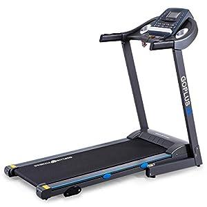 Goplus 2.25HP Electric Treadmill Foldable Running Jogging Fitness Machine for Home & Gym Black Jaguar Ⅲ