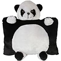 SRT Panda Pillow, Black and White