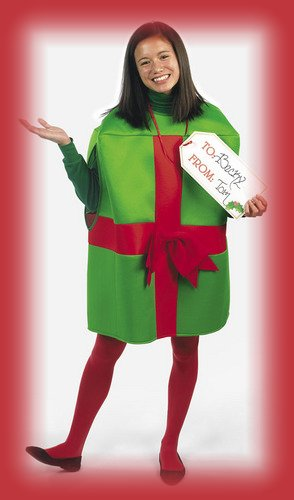 [Chirstmas Present Child Gift Costume] (Christmas Present Costumes)