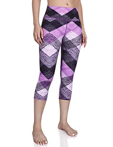 ODODOS Women's High Waisted Pattern Pocket Full-Length Yoga Leggings