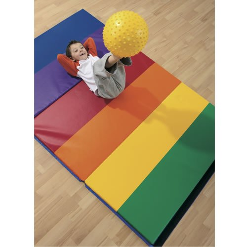 4' x 6' Rainbow Exercise Mat