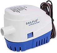 SAILFLO Bilge Pump Automatic 12v Pump for Boat 600 GPH /750 GPH/1100GPH 12 Volt DC All-in-one Marine Submersib