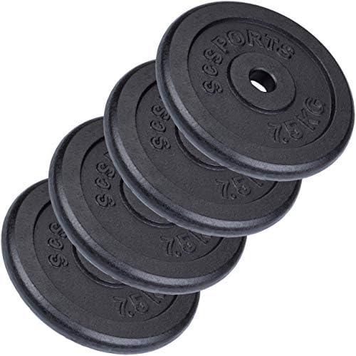 ScSPORTS 30 kg Halterschijven set 4 x 75 kg boring 30 mm Gietijzer Gewichten Fitness