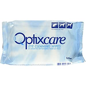 Optixcare 50 Count Eye Cleaning Wipes for Animals 40