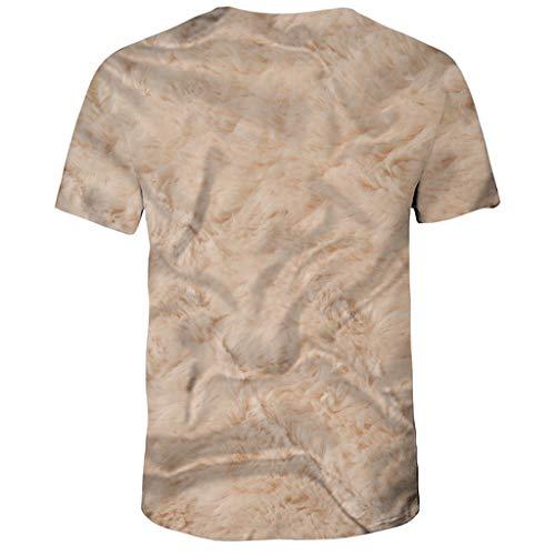 Sweatshirt Hauts Kaki nbsp; Homme Impression T ink 3d Polo Tee 2019 Humour Chemises Tops shirt Manche Cebbay Courte Splash Novelty 4Zqp4w