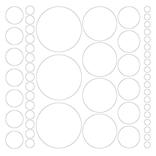 Assorted Size Polka Dot Decals - Repositionable Peel and Stick Circle Wall Decals for Nursery, Kids Room, Mirrors, and Doors (white) (Wall Decals White)