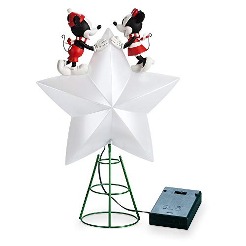 Disney Mickey and Minnie Mouse Light-Up Holiday Tree Topper (Disney Toppers Christmas Tree)