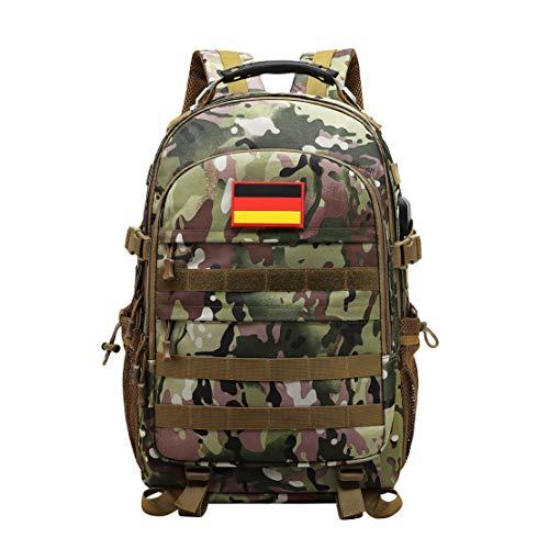 JOTHIN Taktischer Rucksack Herren Sport Backpack Outdoor Tagesrucksack Wasserdicht Armyrucksack Oxford-Tuch Rucksäcke…