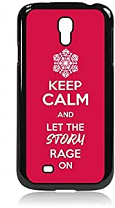 Keep Calm and Let The Storm Rage On - Red- Hard Black Plastic Snap - On Case --Samsung? GALAXY S3 I9300 - Samsung Galaxy S III - Great Quality!