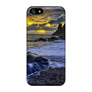 Dreaming Your Dream Fashion Protective Huge Boulders On A Beach At Sunset Hdr Case Cover For Iphone 5/5s