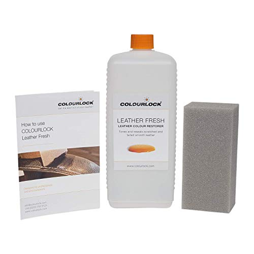 - Colourlock Leather Fresh Dye DIY Repair Colour Restorer for Scuffs and Small Cracks on car interiors 1 Litre Compatible with BMW Chestnut Brown