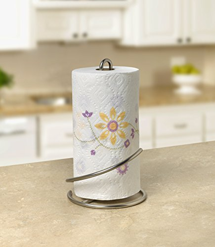 Large Product Image of Spectrum Diversified Euro Supreme Paper Towel Holder, Satin Nickel