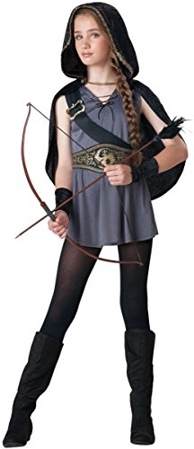 Robin Hood Halloween Costume Girl (Hooded Huntress Tween Costume - Large)
