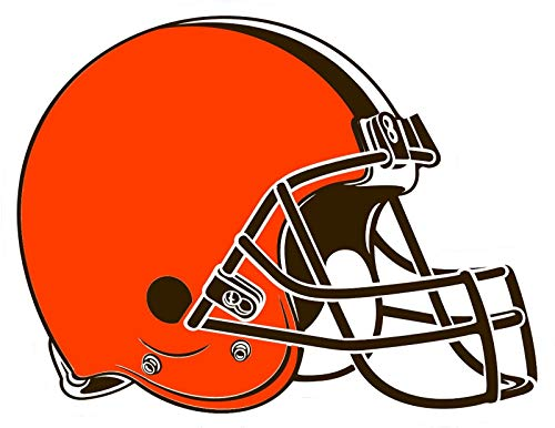 (Crazy Discount Cleveland Browns NFL Vinyl Sticker Decal Outside Inside Using for Laptops Water Bottles Cars Trucks Bumpers Walls, 3