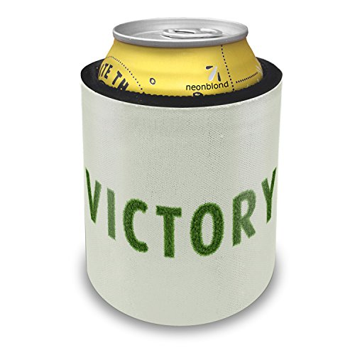 Slap Can Coolers Victory Soccer Field Grass Insulator Sleeve Covers Neonblond