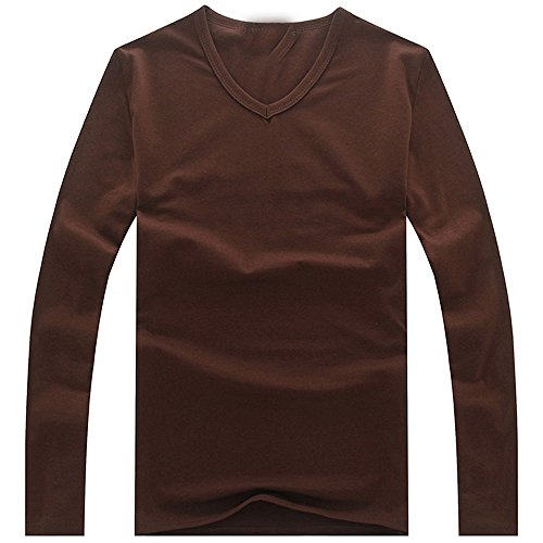 Taylor Heart New design Men T Solid Shirts Fashion New New Fashion Fitness Long Sleeve Tshirts HommeTops&Tees Camisetas Hombre Hip Hop R1058 V neck Coffee XXXL