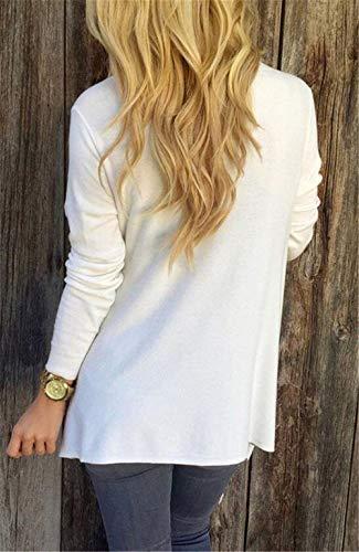 Automne Doux Vintage Targogo Confortable Mode Couleur Casual Veste Léger Blanc Manches Longues Fille Pur Hiver Détendu Pull Femme À De Capuche Giubotto Outwear 6qgUrqEna