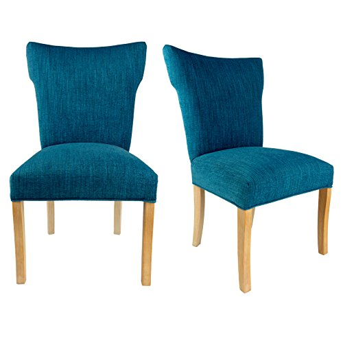 Sole Designs The Bella Collection Contemporary Style Fabric Upholstered Wing Back Armless Dining Side Chairs (Set of 2), (Bella Dining Chair)