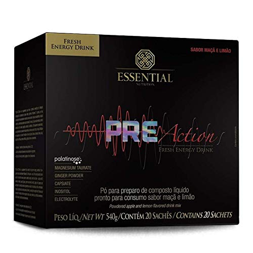 Pre Action Energy Drink (20sachês-27g) Essential Nutrition
