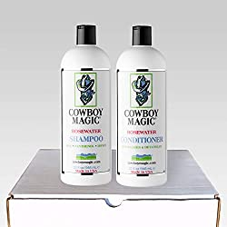 Cowboy Magic Rosewater Shampoo and Rosewater Conditioner Deodorizing Bundle