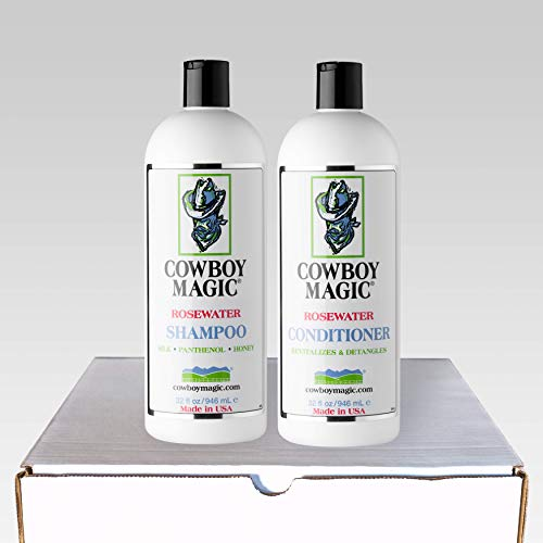 (Cowboy Magic Rosewater Shampoo and Rosewater Conditioner Deodorizing Bundle )