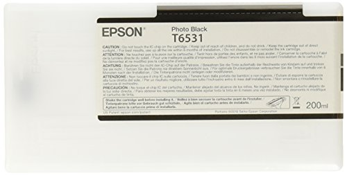 Epson UltraChrome HDR Ink Cartridge - 200ml Photo Black (T653100)