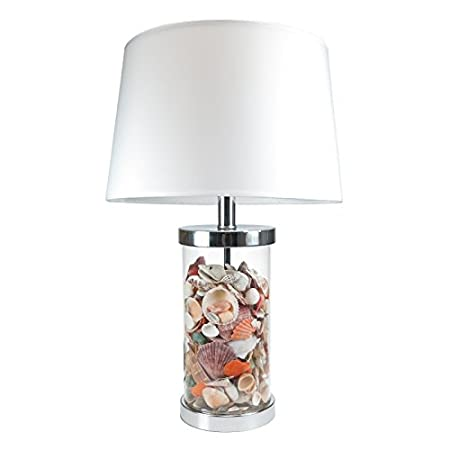 Vintage nautical bedside table desk sea shell lamp q7923 ocean inspired style