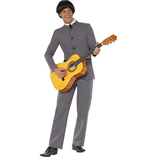 Baby Costume Rock (Smiffy's Men's Fab Four Iconic Costume, Jacket and pants, 60's Groovy Baby, Serious Fun, Size L,)